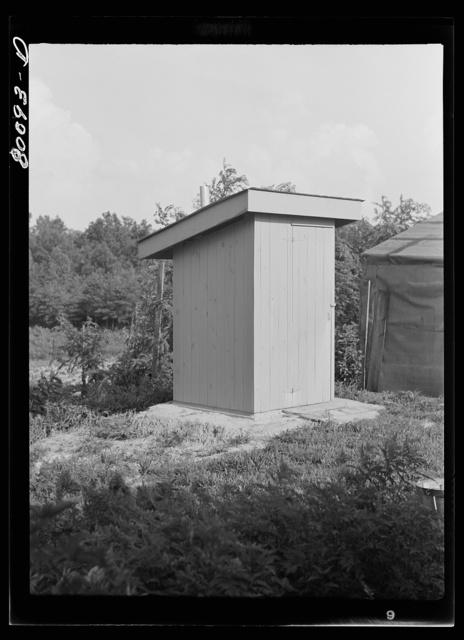 A safe privy is a sanitary privy. Near La Plata, Maryland
