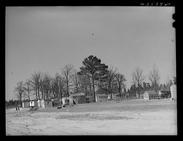A settlement of workers employed at Fort Bragg along route Number 87 about eight miles out of Fayetteville, North Carolina
