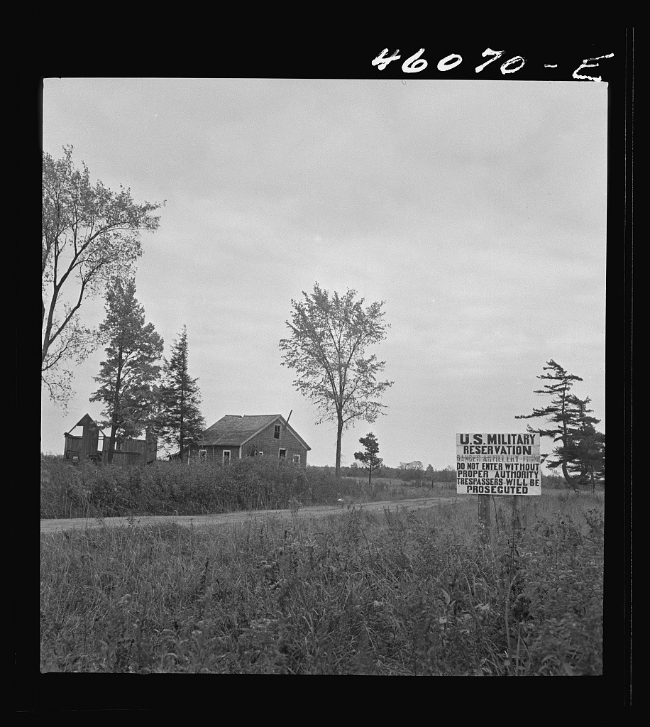 Abandoned house in the artillery range in the Pine Camp area, near Watertown, New York