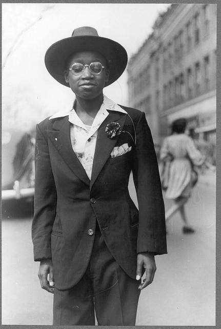 Adolescent boys dressed up for the Easter parade, Chicago, Illinois