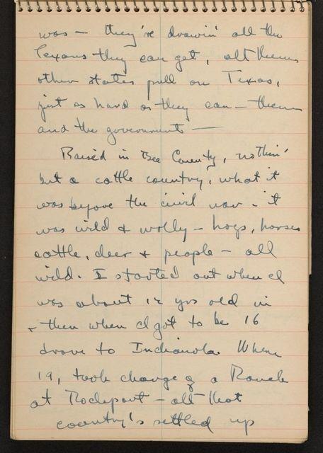 Alan Lomax Collection, Manuscripts, Southern States (AL, GA, NC, TN, VA), 1941 June-Aug