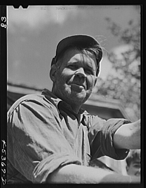 Almond Drake, a farmer in the Pine Camp expansion area who must move out. Near Leraysville, New York