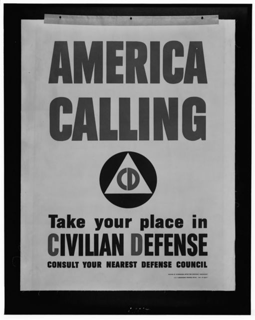 America calling--Take your place in civilian defense--Consult your nearest defense council