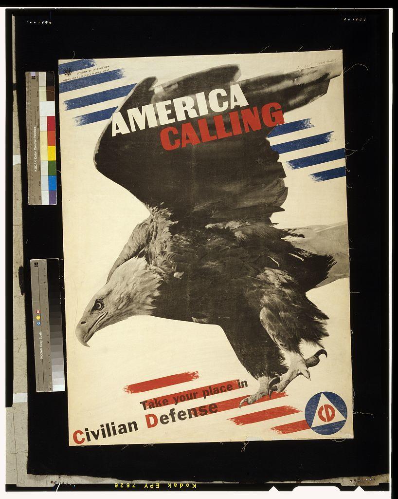 America calling. Take your place in civilian defense / Herbert Matter.