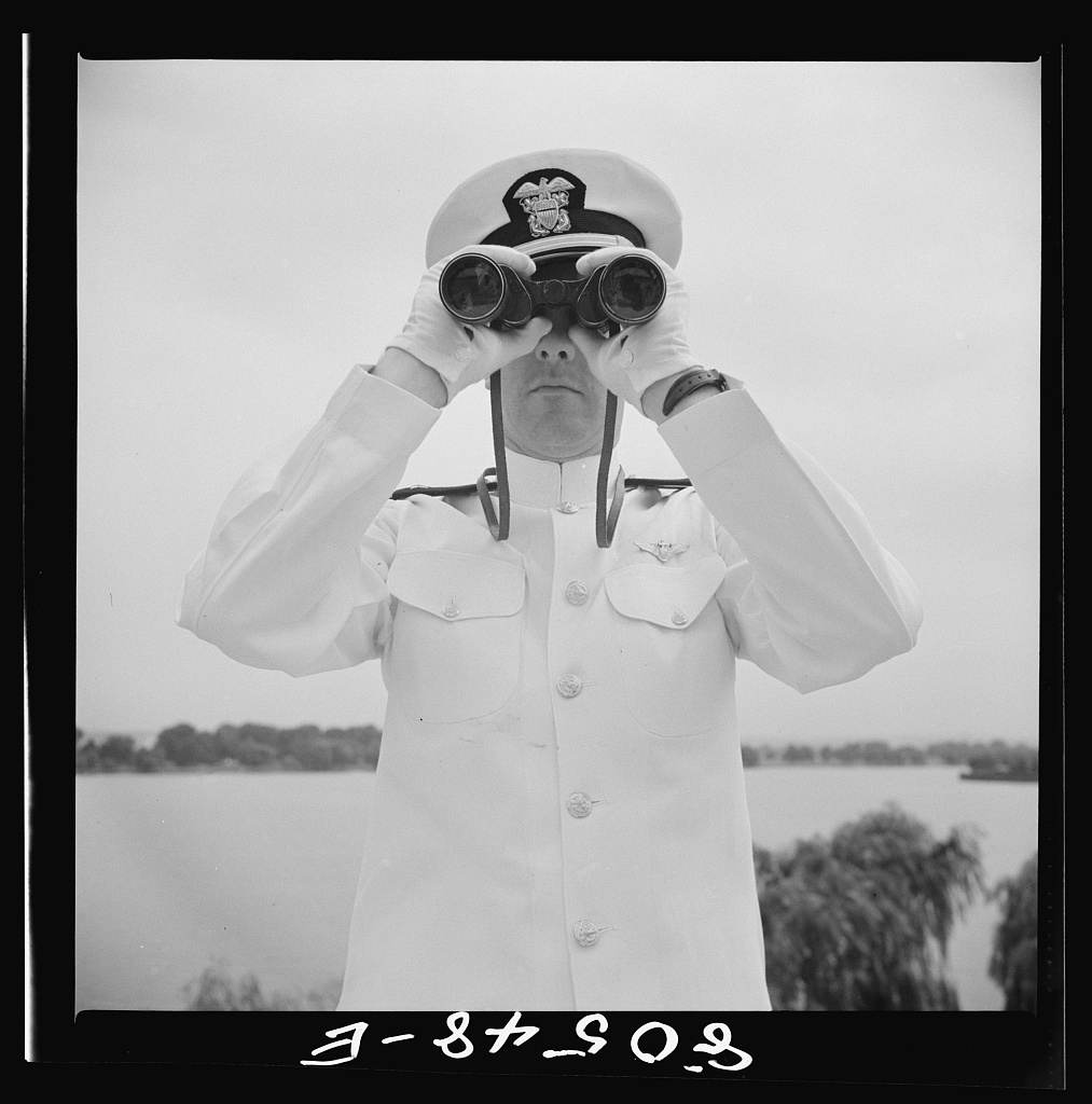 Anacostia, Washington, D.C. Naval air station. Naval officer