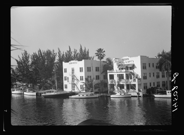 Apartment hotel on Miami River. Miami, Florida