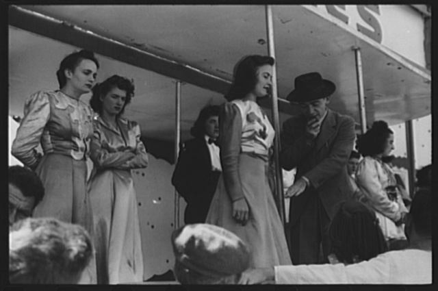 """At a """"girlie"""" show at the fair in Rutland, Vermont"""