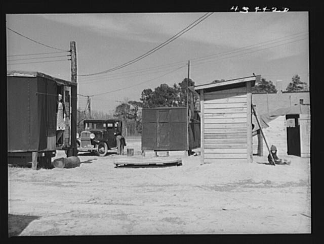 At a migrants' trailer camp near Fort Bragg, North Carolina