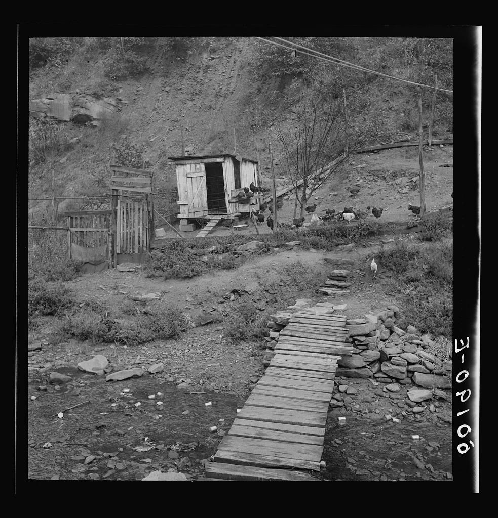 Backyard of miner's home near Bluefield, West Virginia