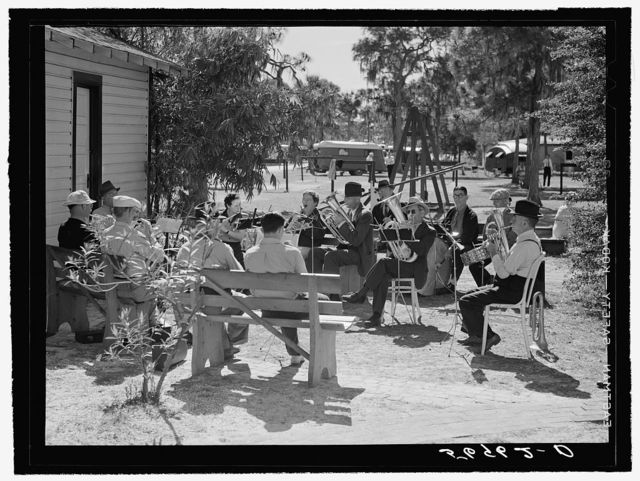 Band composed of guests of trailer park. Sarasota, Florida