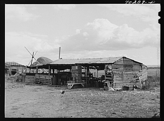 Barn on farm of FSA (Farm Security Administration) rehabilitation borrower who rents from Indian. Yakima County, Washington