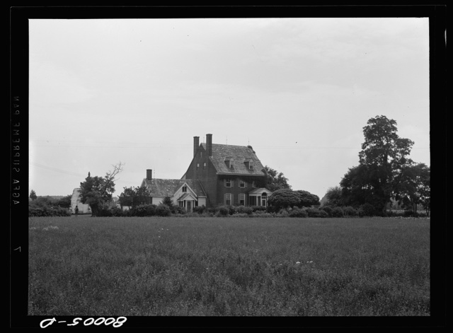 Beal home. Mansion from the old plantation days. Near Ridge, Maryland. Saint Mary's County