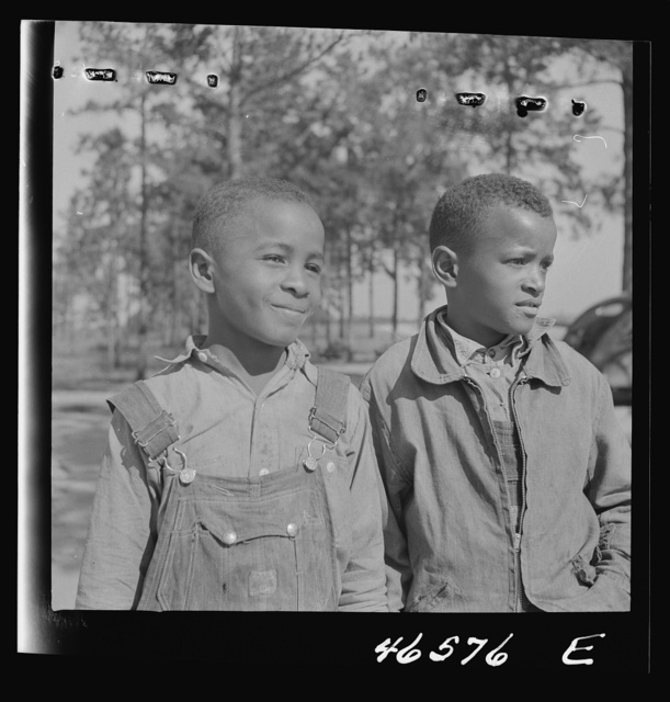 Boyd Jones and one of his school mates at the Alexander Community School, Greene County, Georgia