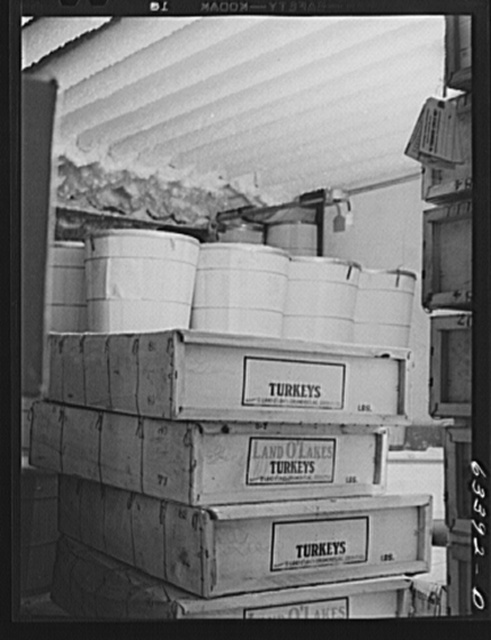 Butter and poultry in cold storage. Land O'Lakes plant, Minneapolis, Minnesota