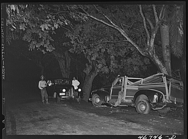 Caguas, Puerto Rico. An automobile accident along the highway
