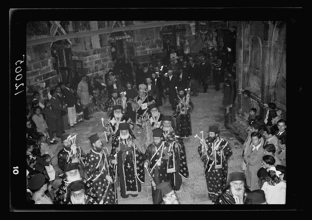 Calendar of religious ceremonies in Jer. [i.e., Jerusalem] Easter period, 1941. Greek Good Friday