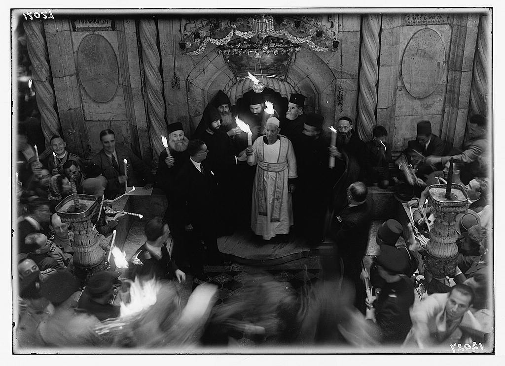Calendar of religious ceremonies in Jer. [i.e., Jerusalem] Easter period, 1941. Orthodox Holy Fire