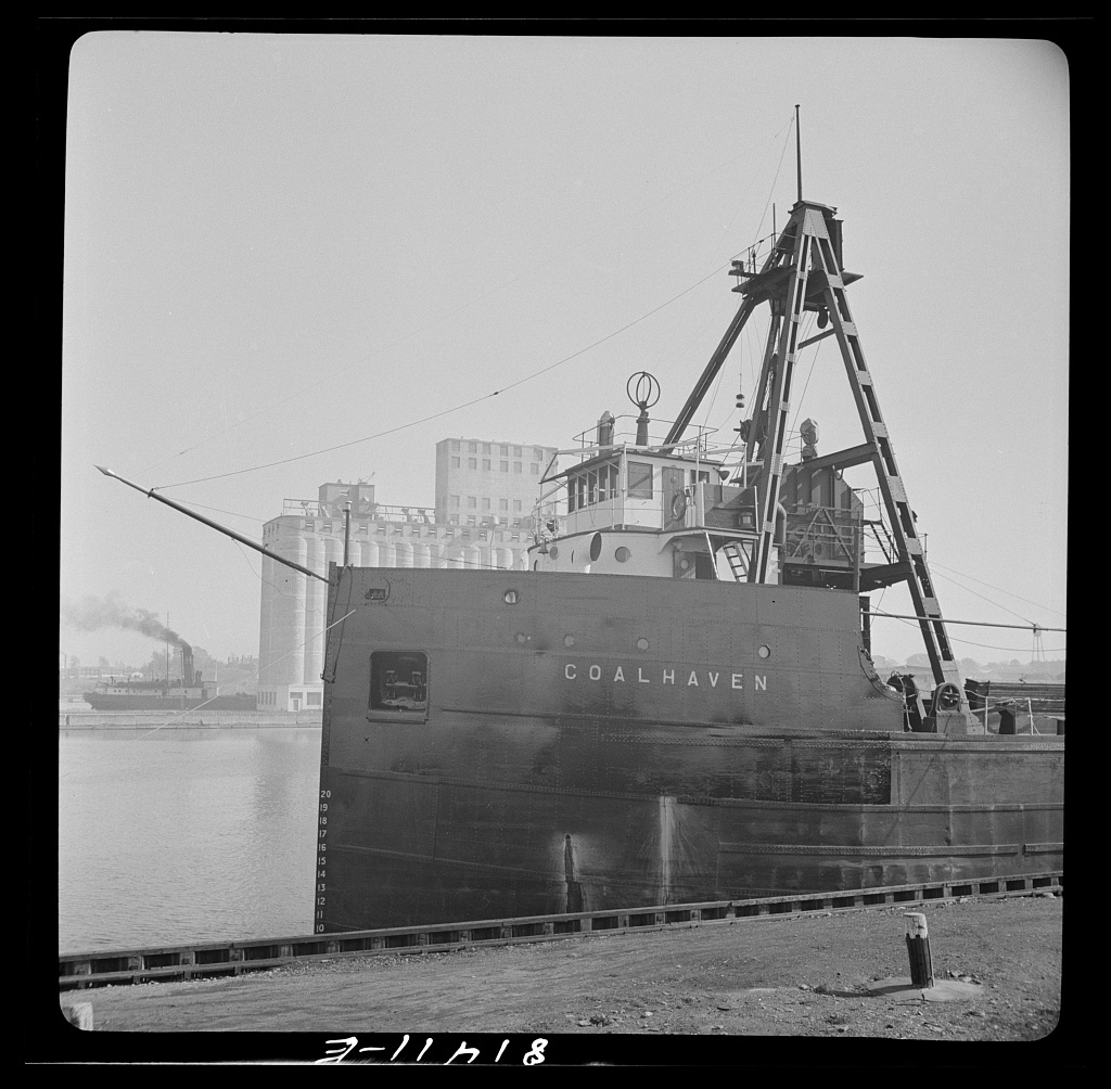 Canadian collier loading at Oswego, New York