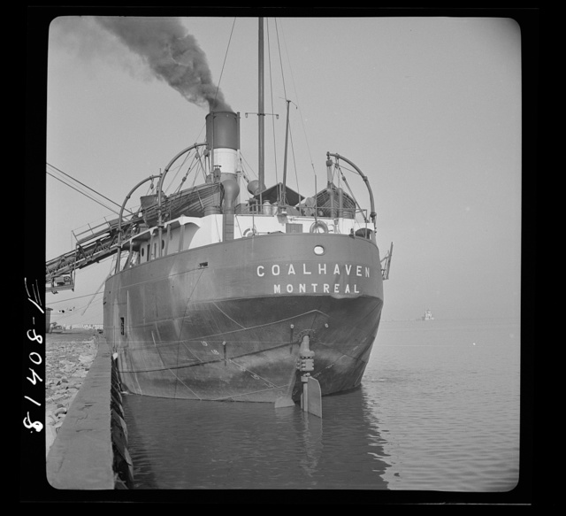 Canadian collier loading coal in Oswego, New York