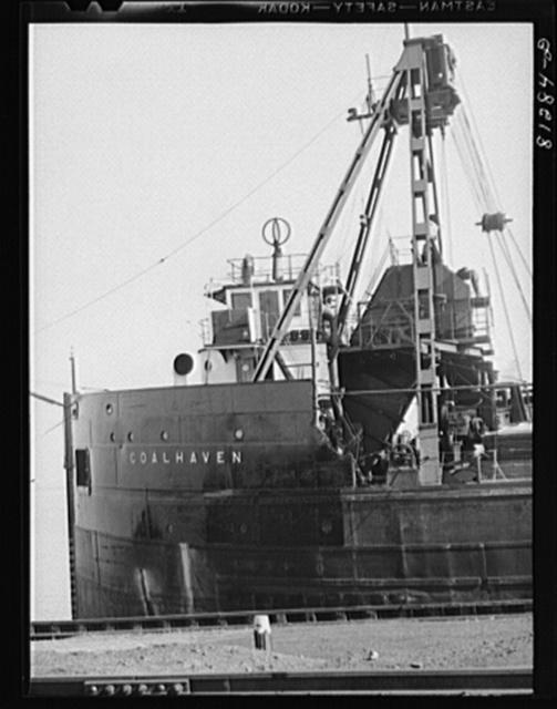 Canadian collier. Port of Oswego, New York