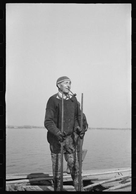 Captain Stein, oysterman, Rock Point, Maryland