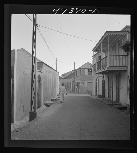 Charlotte Amalie, Saint Thomas Island, Virgin Islands. A street