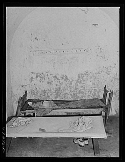 Charlotte Amalie, Saint Thomas Island, Virgin Islands. One of the cells in the old fort, now used as a prison