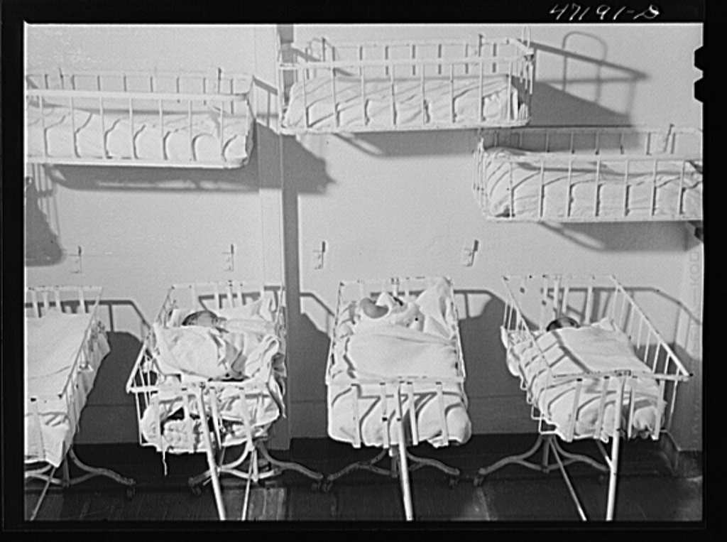 Charlotte Amalie, Saint Thomas Island, Virgin Islands. The babies' ward at the hospital