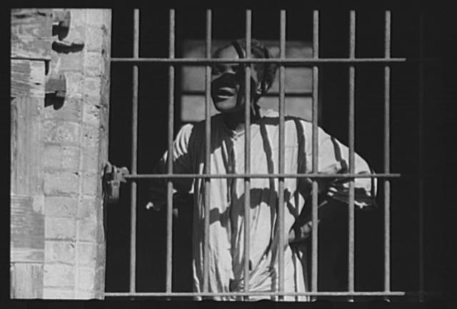 Charlotte Amalie, St. Thomas Island, Virgin Islands. An inmate of the insane asylum at the hospital