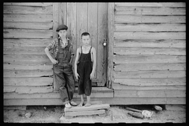 Children of William Corneal, farmer who must move out of the area being taken over by the army for maneuver grounds in Caroline County, Virginia