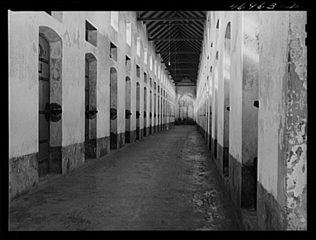 Christiansted, Saint Croix Island, Virgin Islands, A row of cells in the prison