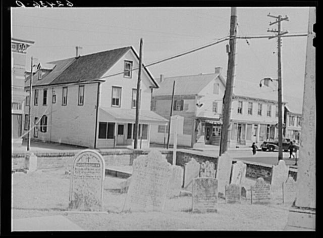Church yard on main street. Lewes, Delaware