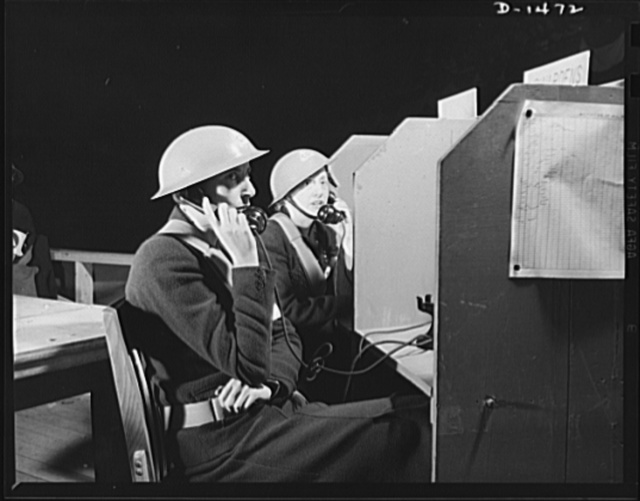 Civilian defense. Prompt and efficient telephone handling is an important part of civilian defense work. This operator at air raid warden headquarters receives calls telling her of trouble in various areas, notes the message and passes them on for immediate action. The demonstration was at the civilian defense show at Madison Square Garden, New York, October 1941