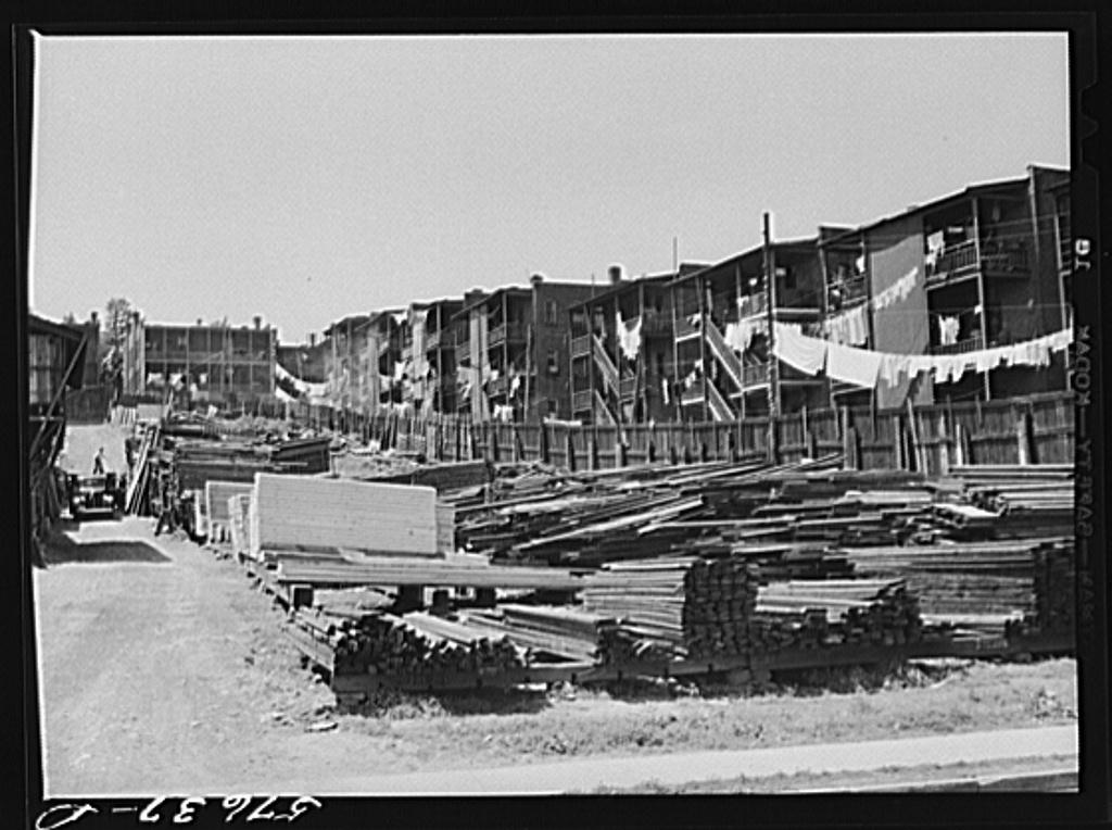 Congested slum area. Hartford, Connecticut