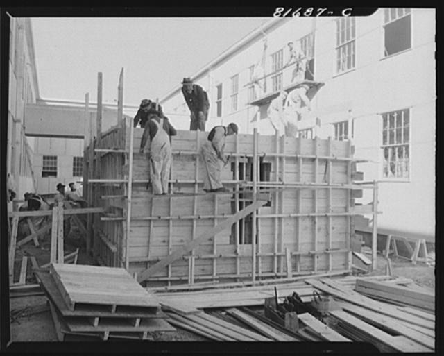 Constructing emergency office space. Washington, D.C.