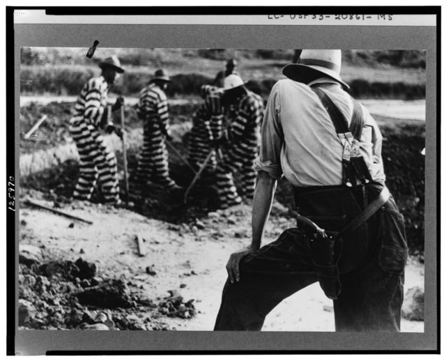 Convicts and guard, Oglethorpe County, Georgia