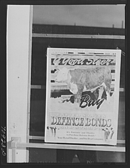 Defense bond sign. Payette, Idaho