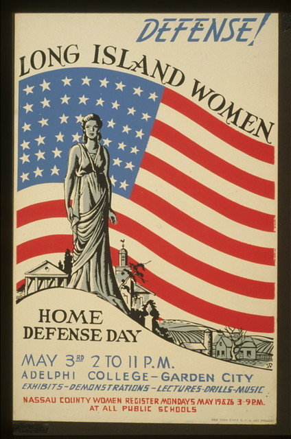 Defense! Long Island women : Home defense day : Exhibits - demonstrations - lectures - drills - music / / JD.