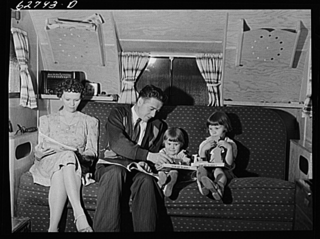 Defense worker from Alabama in trailer home with family. Erie, Pennsylvania