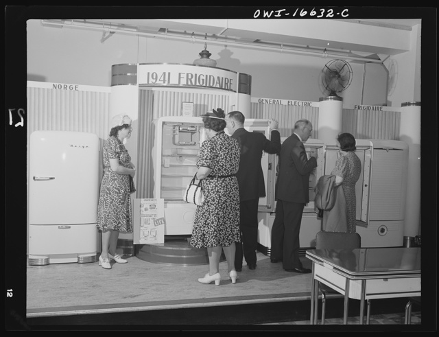 Detroit, Michigan. Buying refrigerators at the Crowley-Milner department store