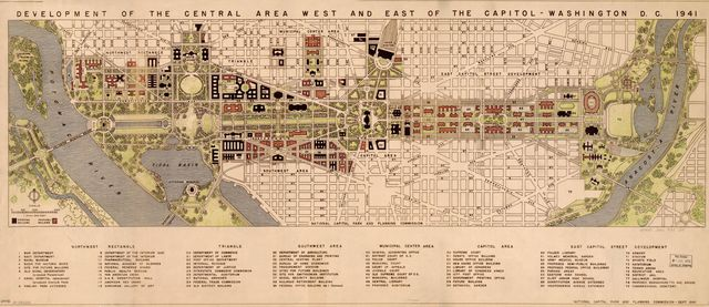Development of the central area west and east of the Capitol--Washington D.C. 1941 /