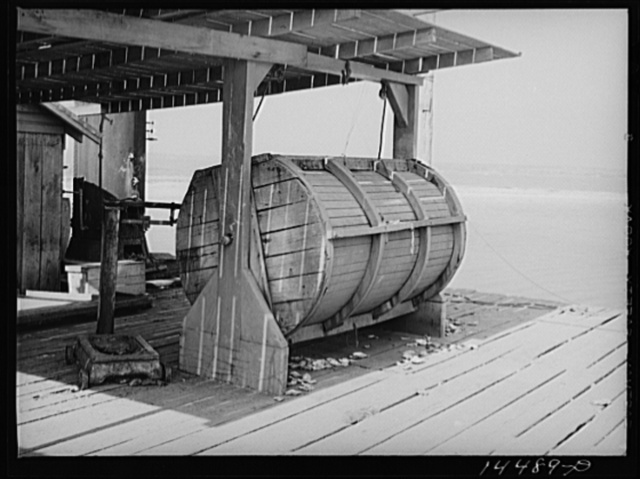 Drum used to cook crabs. Rock Point, Maryland