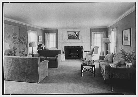 Duane R. Stoneleigh, residence at Yale Farms, Port Chester, New York. Living room