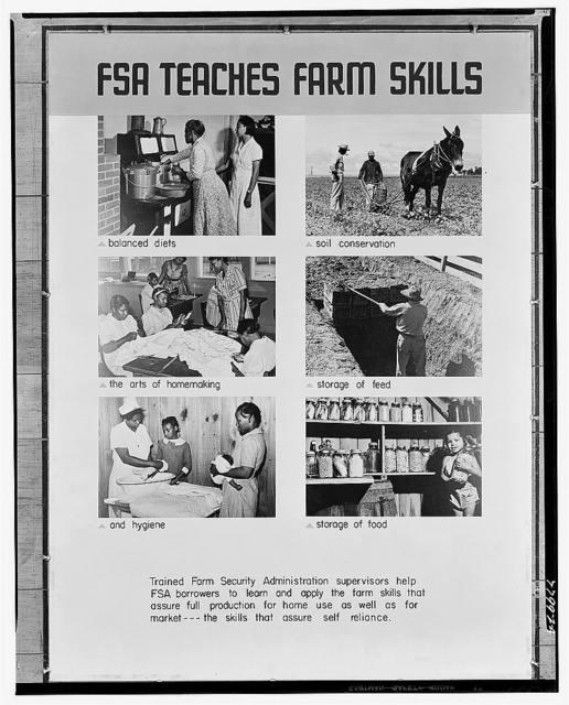 Farm Security Administration exhibit (FSA Teaches Farm Skills)