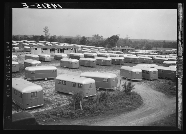 Farm Security Administration trailer camp for workers at Vultee Aircraft Plant. Nashville, Tennessee