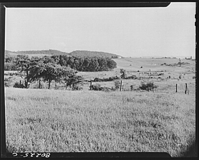 Farmlands surrounding the FSA (Farm Security Administration) defense housing project. Radford, Virginia