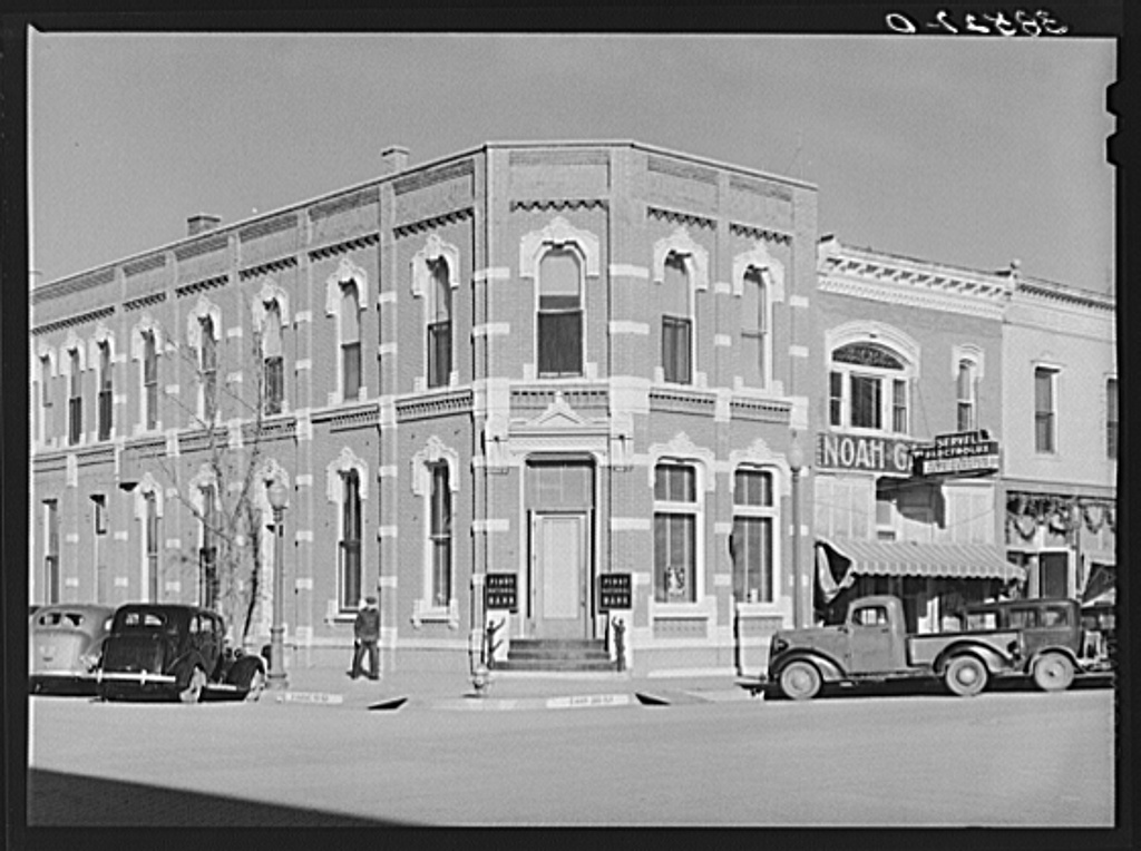 First National Bank corner. Norton, Kansas