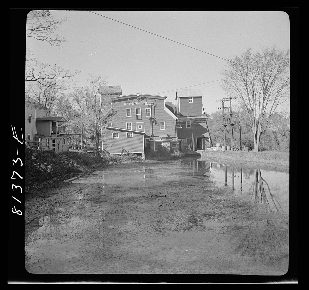 Flour mill in Vernon, New York which still uses water power for grinding