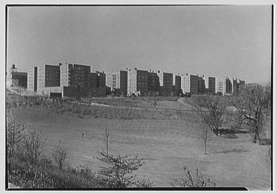 Forest Hills South, Forest Hills, Long Island. General view of group from parkway I
