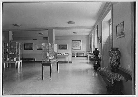Franklin Delano Roosevelt Library, Hyde Park, New York. Exhibition hall II